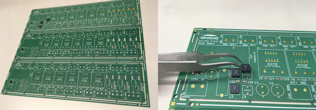 Electronic PCB prototype assembly